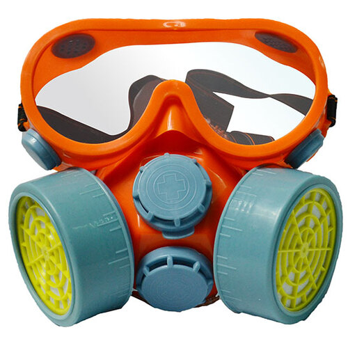 2 Pc Respirator and Goggles Set