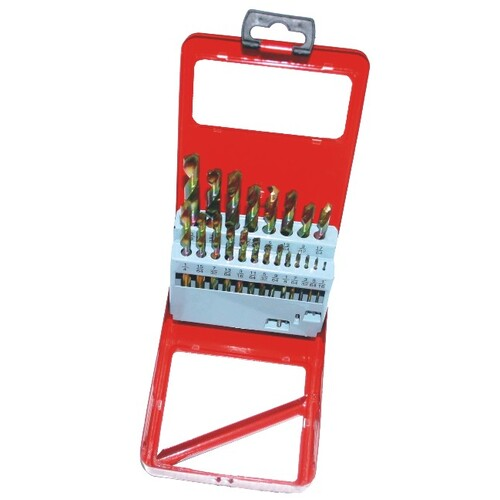 21 Pc Cobalt Coated Drill Bit Set