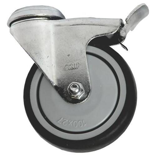 50mm Bolt Hole TPR Castor with PP Core - Swivel w/Brake