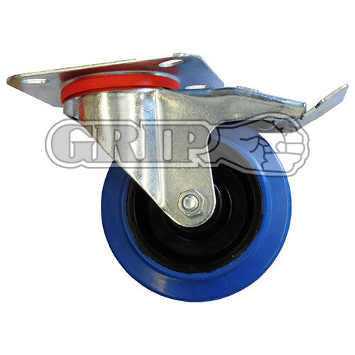 160mm Blue Castor - Swivel w/Brake