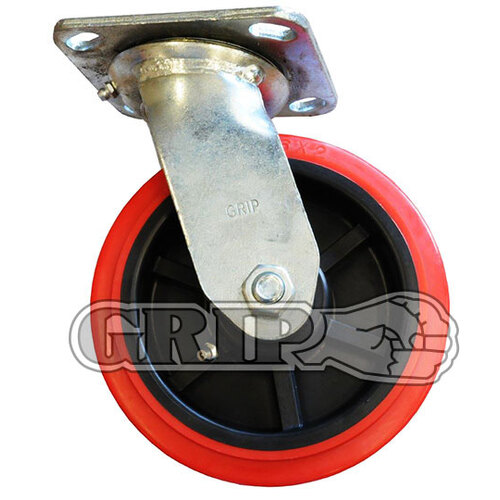 100mm PU Castor with PP Core - Swivel