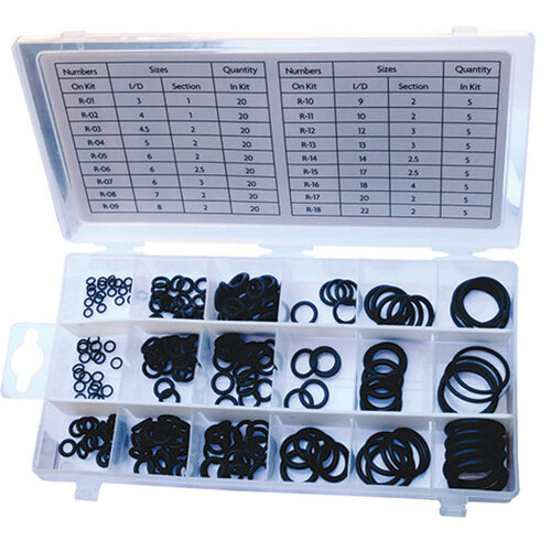 225 Pc Nitrile O-Ring Assortment - Metric