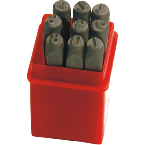 9 Pc Number Punch Set - 1/4''