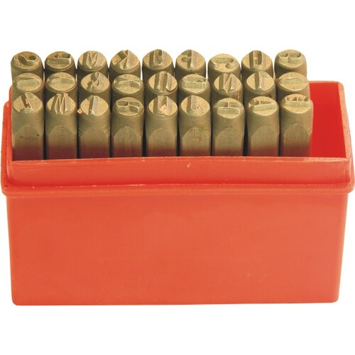 27 Pc Letter Punch Set - 1/4''