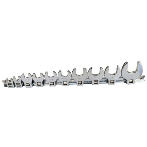 10 Pc 3/8'' Sq. Dr. Crowfoot Wrench Set SAE