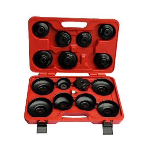 16 Pc Oil Filter Cap Wrench Set