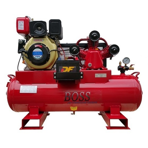 BOSS 20CFM/ 6HP DIESEL AIR COMPRESSOR 112L TANK (E/START)