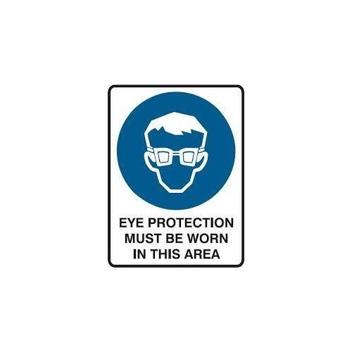 EYE WEAR MUST BE WORN STICKER 150MM