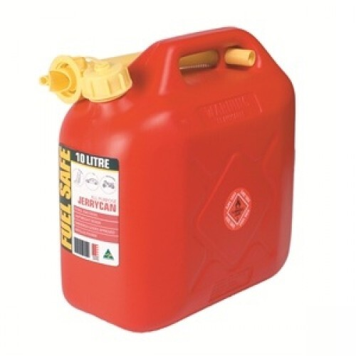 FUEL CAN RED 10LTR PLASTIC