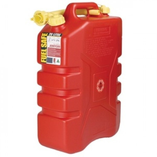 FUEL CAN RED 20LTR PLASTIC