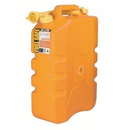 FUEL CAN PLASTIC 20LTR YELLOW DIESEL