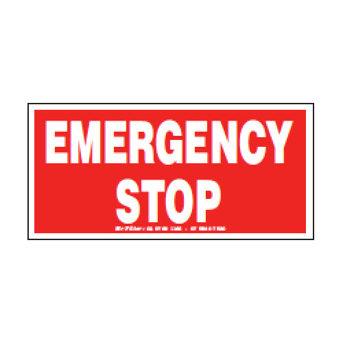 EMERGENCY STOP 120X60MM