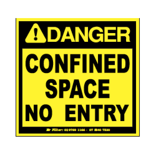CONFINED SPACE 90X85MM