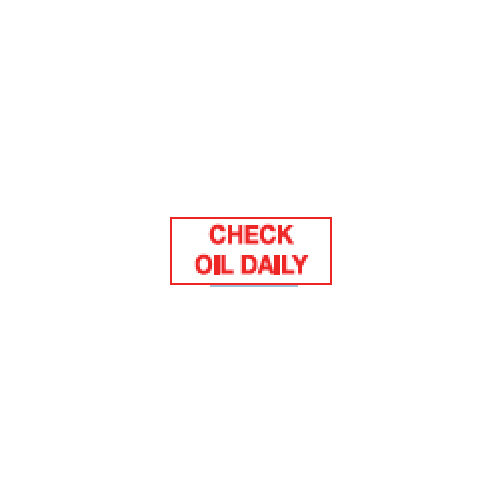 Check Oil Daily Sticker