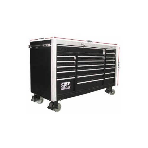 ROLLER CAB BLACK CUSTOM ''SUMO'' 20 DRAWER