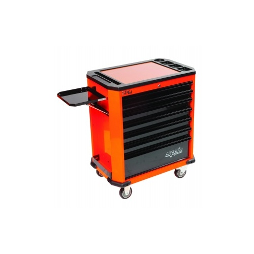 MOTORSPORT CONCEPT 7 DRAWER ROLLER ORANGE GREEN/BLACK