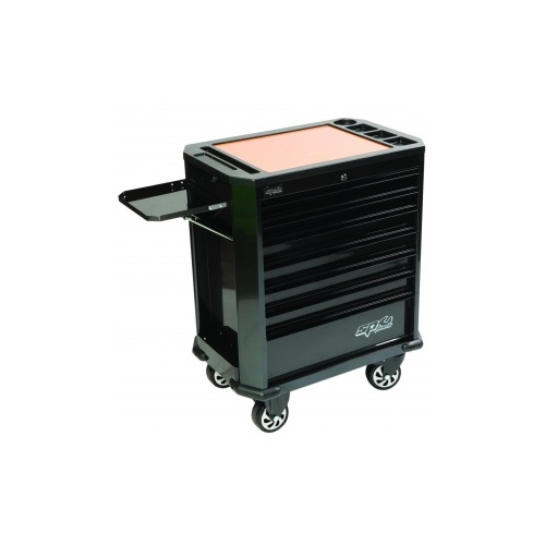 MOTORSPORT CONCEPT 7 DRAWER ROLLER CABINET BLACK NICKLE
