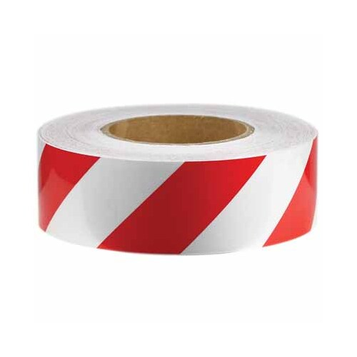 Reflectice Tape Red/Wht 100Mm