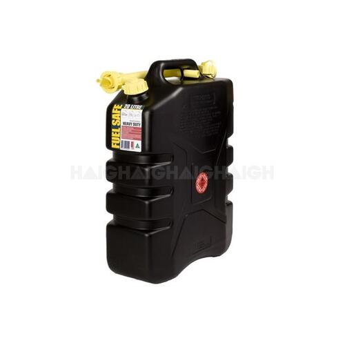 20L Black Hd Plastic Fuel Can