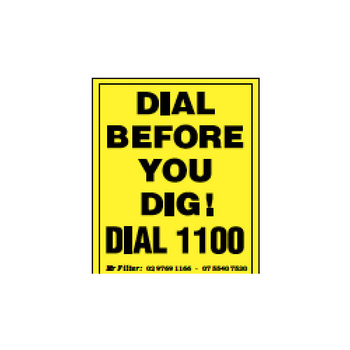 Dial Before You Dig Sticker 55x70mm