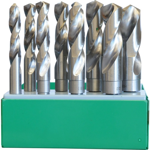 8 Pc Reduced Shank Fractional Drill Bit Set