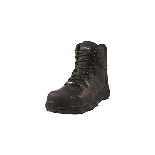 Boot Mack Octane Zip Safety Zip Side Unisex Black Size 7