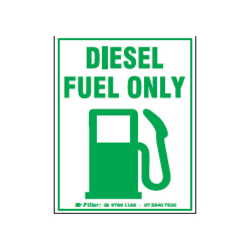 Diesel Fuel Only Sticker 65x85mm