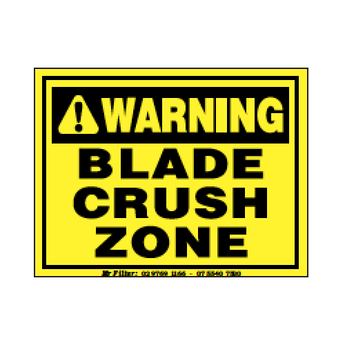 Blade Crush Zone Sticker Small 90x70mm